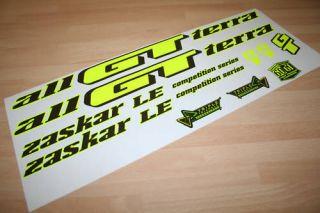 gt zaskar L E mountain bike frame sticker decals RETRO