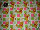 YARD DISNEY POOH TIGGER CLOUD PLAYING GREEN FABRIC