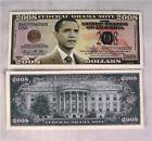 10 Barack Obama 2008 Novelty Dollars Bills funny money