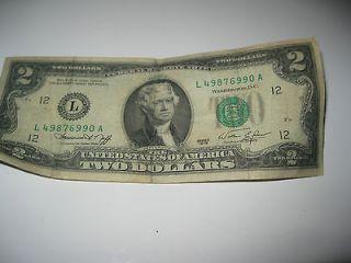 ATLANTA 1976 Bicentennial Two Dollar Bill Note F 48729268A