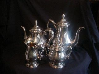 Piece 1847 Rogers Bros REMEMBRANCE Tea Coffee Set Silverplate