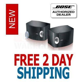 BOSE 301 SERIES V STEREO BOOKSHELF SPEAKERS PAIR BLACK