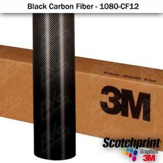3M 1080 Gloss Black Carbon Fiber Vinyl Vehicle Wrap Film Sheet 12x 60