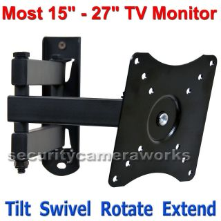 Articulating Arm Tilt LCD LED Monitor TV Wall Mount 17 19 20 22 24 26