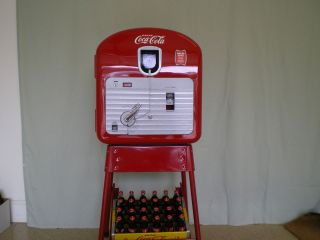 1940s Vendo 27 Coke Machine On Pipe Stand Completely Refinished