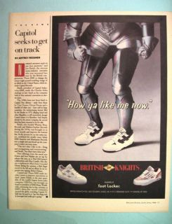 BK BRITISH KNIGHTS Foot Locker 1988 80s Print Ad