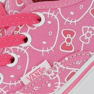 VANS AUTHENTIC HELLO KITTY HOT PINK PRINT 2012 GRADESCHOOL KIDS SIZE 4