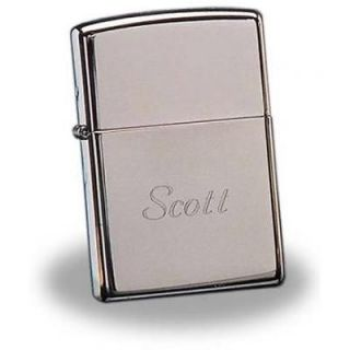Personalized Zippo High Polish Chrome Lighter   Free Engraving