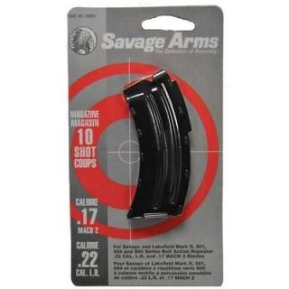 Savage Arms Magazine .22LR / .17 Mach 2, 10  Rd Blued Steel Fits MKII