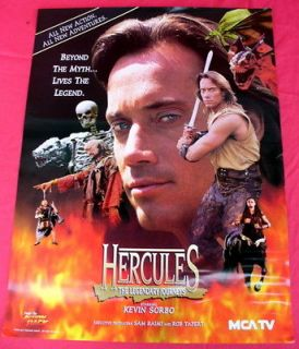 HERCULES Very RARE 1995 TV Studio Promotional Poster  Kevin