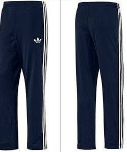 New Adidas originals vintage style Firebird Dark Navy Track Pants