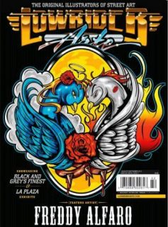 LOWRIDER ARTE MAGAZINE AUG 2011 CHICANO TATTOO ART FLASH