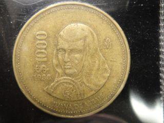 RARE1988 MEXICO 1000 PESOS COIN %%%%%X3