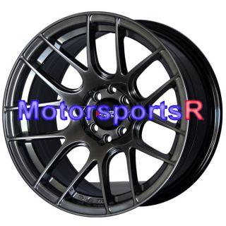 15 15x8 XXR 530 Chromium Black Concave Rims Wheels Stance 4x100 Honda
