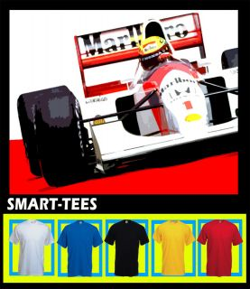 AYRTON SENNA MCLAREN FORMULA ONE T SHIRT ALL SIZES COLOURS AVAILABLE