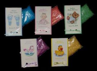 20 Baby Shower Personalized BATH CRYSTALS Favors Bath Salt ~Completely