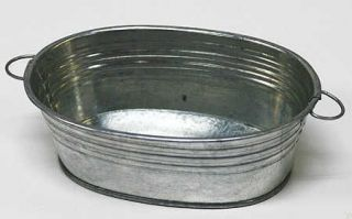 Galvanized Oval Wash Tubs   6 Tubs   Weddings   Baby Showers   Candles