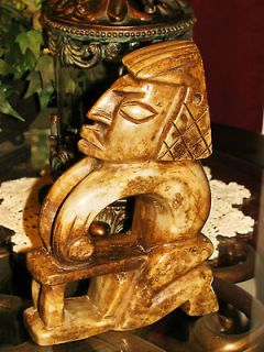 Onyx Mayan Aztec Hand Carved Sculpture Stone Statue Tribal