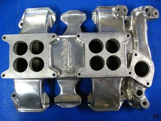 WEIAND POLISHED OLDS DUAL QUAD INTAKE MANIFOLD OLDSMOBILE 2x4 371 394
