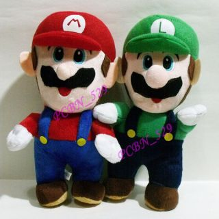 New Super Mario Brothers Plush Figure ( Stand Mario C and Stand Luigi