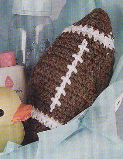 Crochet Pattern ~ BABYS FIRST FOOTBALL ~ Instructions
