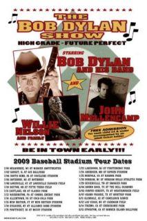 BOB DYLAN 2009 box office concert POSTER willie baseball stadium tour
