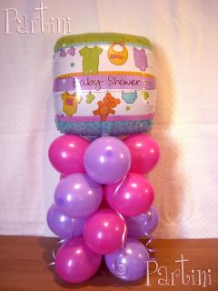 BABY GIRL / BOY   BABY SHOWER BALLOON BOUQUET / DISPLAY / PARTY TABLE