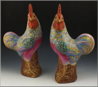 Antiques  Asian Antiques  China  Statues  Roosters