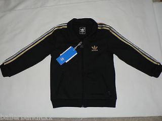 Adidas Baby sweatsuit jacket pants infant new black