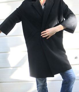 Joseph Magnin black coat jacket vintage size 6 8 medium Audrey Hepburn