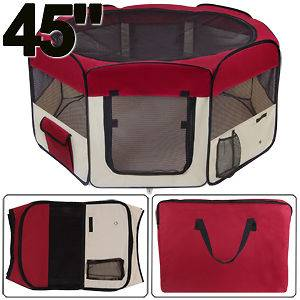 Medium 2 Door Pet Playpen Exercise Kennel Puppy Dog Crate Soft Tent