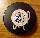 Scott Mellanby Signed Puck COA Edmonton Oilers Flyers Panthers Blues