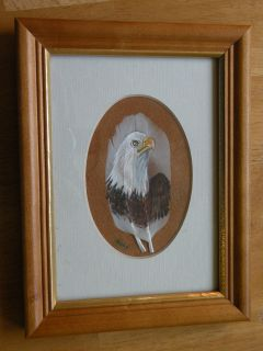 Bobbie Momsen Bald Eagle Original Painting on Feathers One Of A