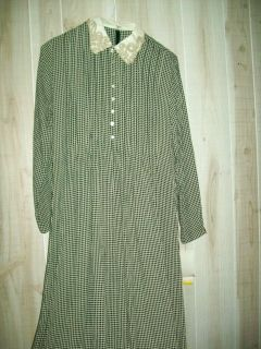 Green/Beige Checked Long Dress, NWT Positive Attitude from Dillards Sz