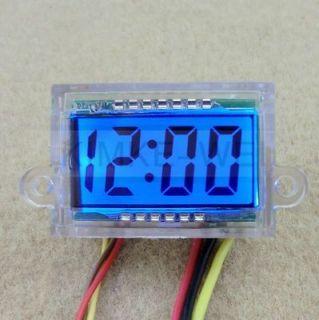 Motorcycle Mount LCD Digital Clock   Blue Backlight