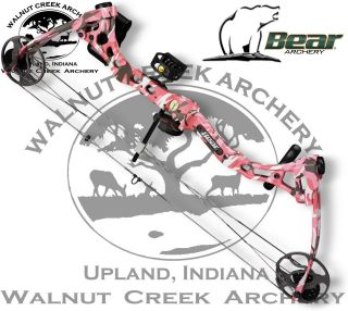 Bear Archery Apprentice RTH PINK Compound Bow Package Left Hand 15 27