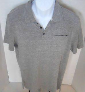 BANANA REPUBLIC Mens Heathered Gray Pocket Polo Shirt Sizes S XXL