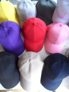 plain baseball caps in Hats