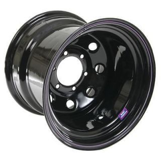 Bart Wheels Super Trucker Black Steel Wheel 15x14 6x5.5 BC