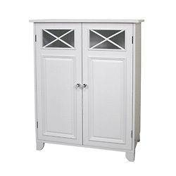 Bath Linen Bedroom Organizer Virgo Floor Cabinet White