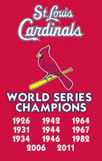St. Louis Cardinals WORLD SERIES YEARS (1926 2011) Official Nylon