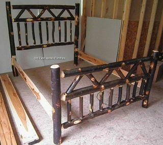 Rustic Log Bed Frames