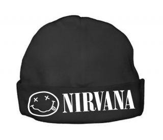 nirvana baby beanie beenie hat cap newborn band clothes