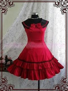 Sweet Gothic Lolita Belle Ball Gown Victorian Prom Red Cosplay Cute