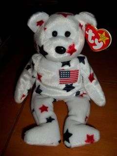 Glory the USA Bear TY Beanie Baby. COMBINE SHIPPING