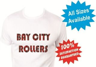 bay city rollers womans T Shirt New White Custom Print Tee