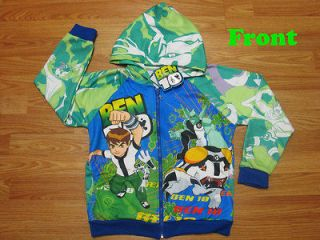 Ben 10 Hooded Spring Jacket #003 Green Size XXL age 12 14