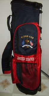 RYDER CUP  UNITED STATES AT THE BELFRY STAND/CART/ CARRY GOLF BAG