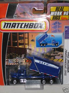 2007 International 7500 Dump Truck w/HOIST Matchbox Premium Rig 187