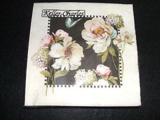 Victorian Rose flowers paper beverage napkins USE FOR DECOUPAGE